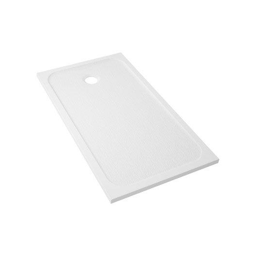 receveur de douche rectangulaire x cm r sine blanc mila leroy merlin. Black Bedroom Furniture Sets. Home Design Ideas