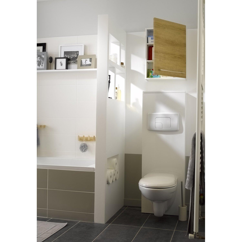 pack wc suspendu b ti universel sensea remix leroy merlin. Black Bedroom Furniture Sets. Home Design Ideas