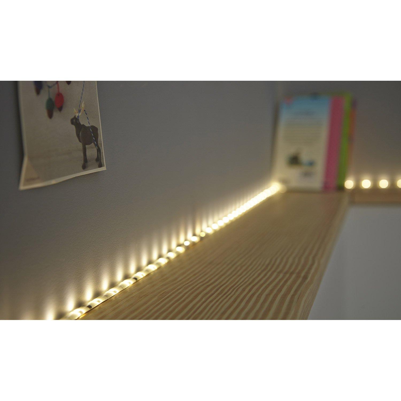 kit ruban led 5m blanc chaud 3000k 1000 lumens flexled inspire leroy merlin. Black Bedroom Furniture Sets. Home Design Ideas