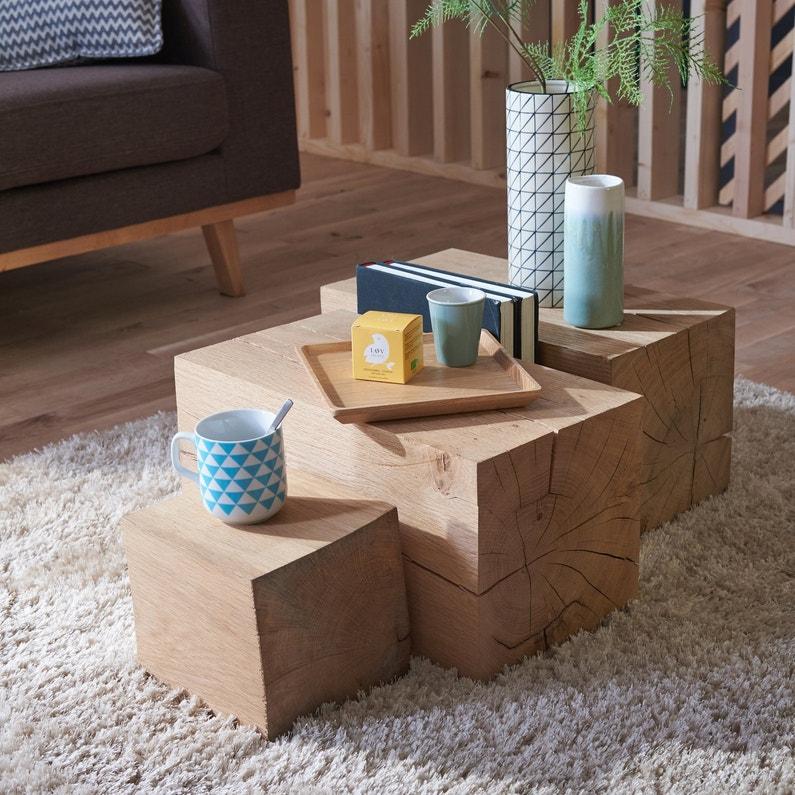 les cubes en bois sont originaux en version allong e leroy merlin. Black Bedroom Furniture Sets. Home Design Ideas