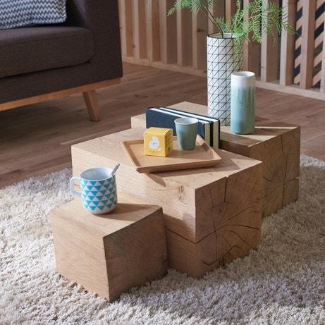Les cubes en bois sont originaux en version allongée