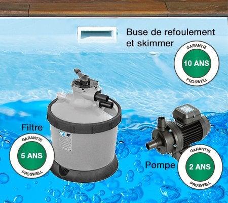 Piscine hors sol bois tropic proswell by procopi l x for Pompe piscine hors sol leroy merlin
