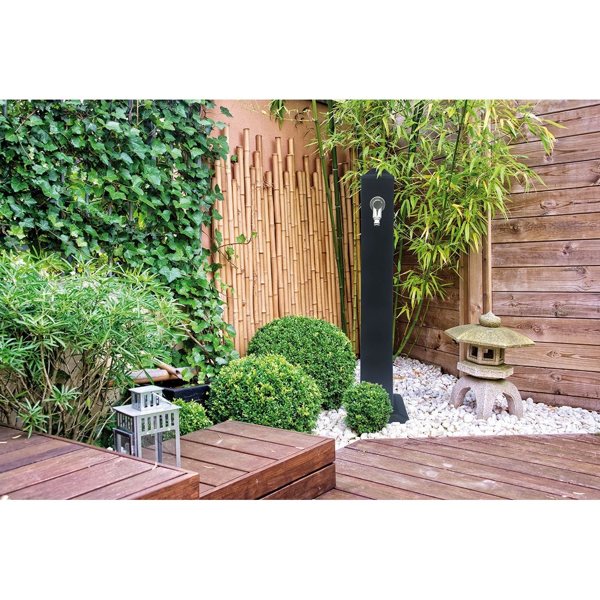 fontaine robinet en zinc anthracite vahanga leroy merlin. Black Bedroom Furniture Sets. Home Design Ideas