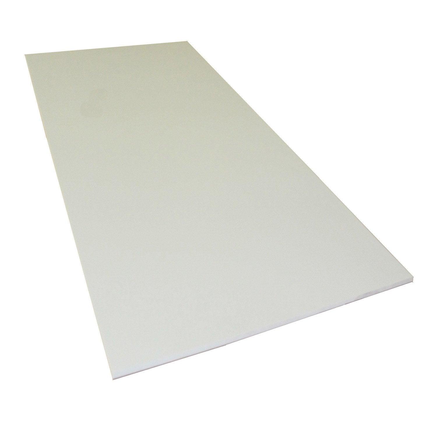plaque pvc expans pvc blanc lisse x cm ep 3 mm. Black Bedroom Furniture Sets. Home Design Ideas