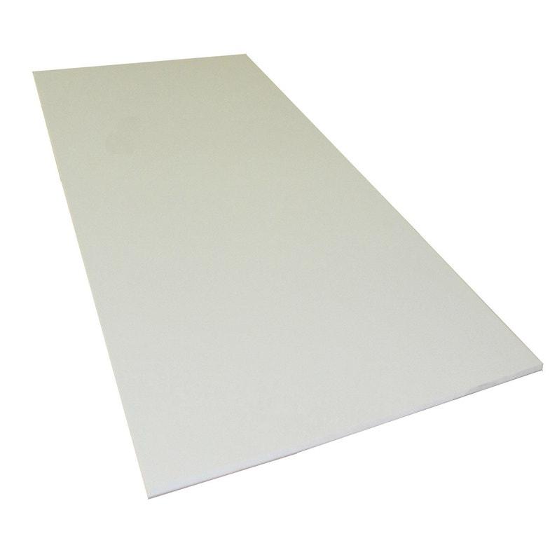 Plaque Pvc Expansé Pvc Blanc Lisse L100 X L50 Cm Ep10 Mm