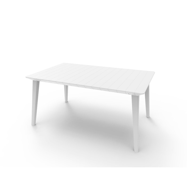 Table de jardin Akola rectangulaire blanc 4/6 personnes