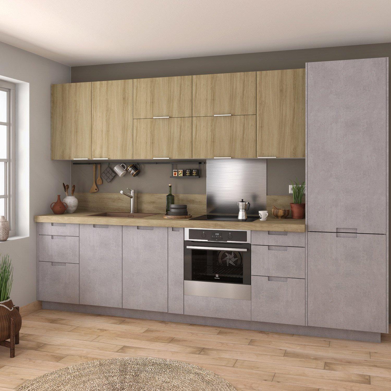 meuble de cuisine berlin gris delinia id leroy merlin. Black Bedroom Furniture Sets. Home Design Ideas