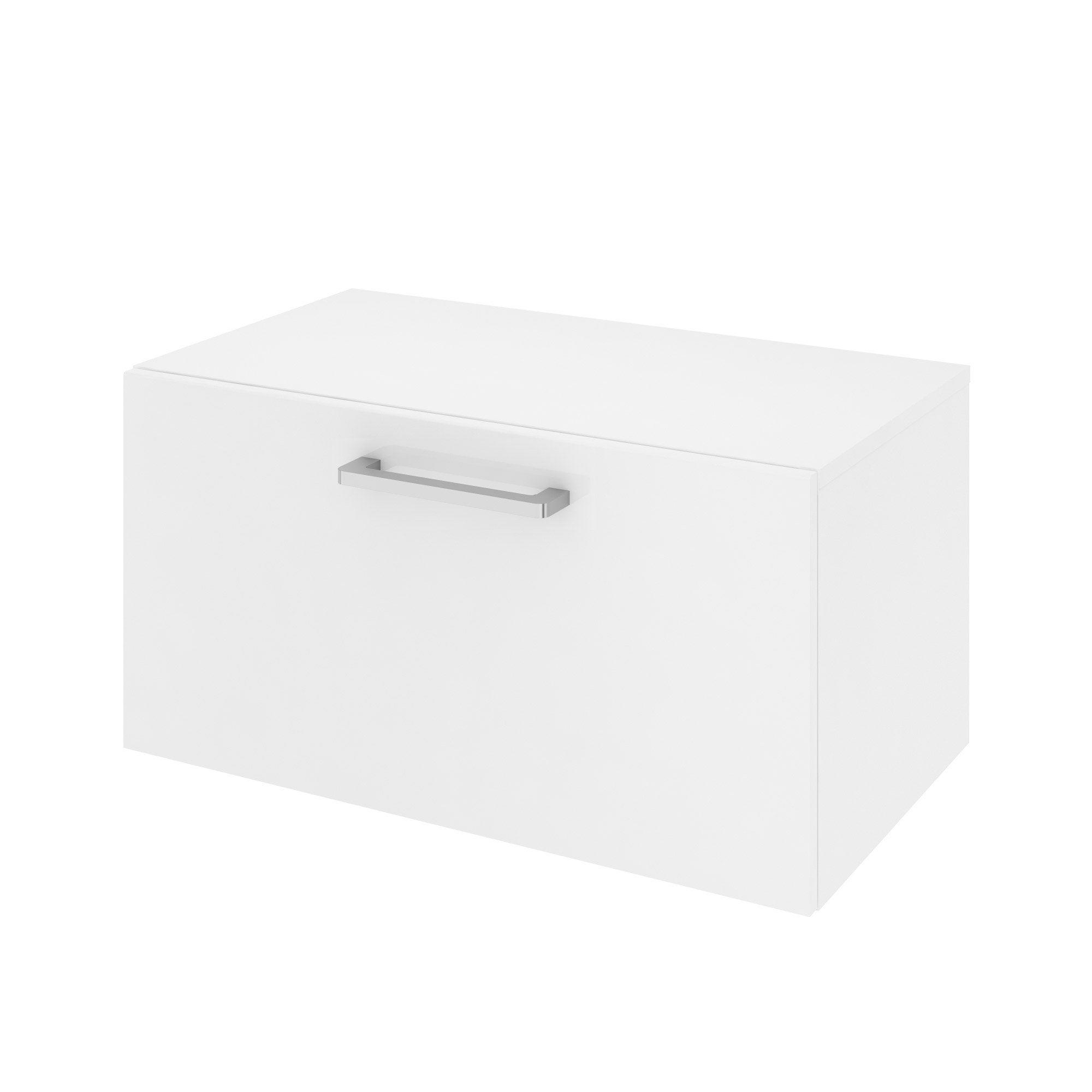 Meuble de salle de bains l.70 x H.35.9 x P.38 cm, blanc, Easy