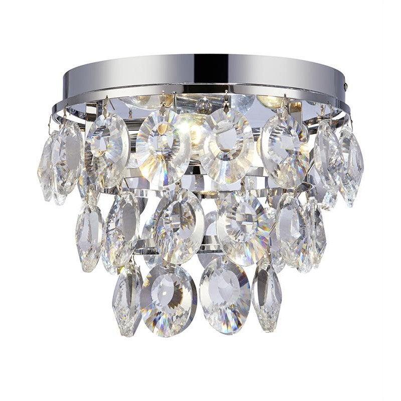 Plafonnier, classique chic métal chrome / transparent MARKSLOJD Isobel