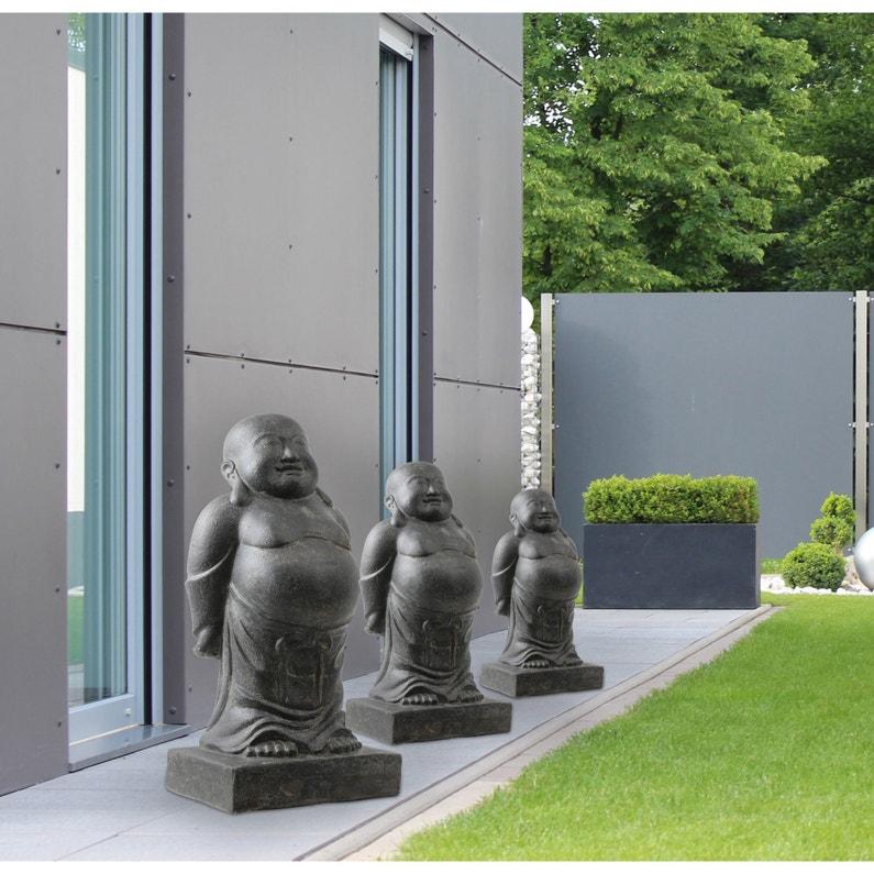 Décoration de jardin statue Moine Enveloppé en pierre reconstituée 30 x 80  cm