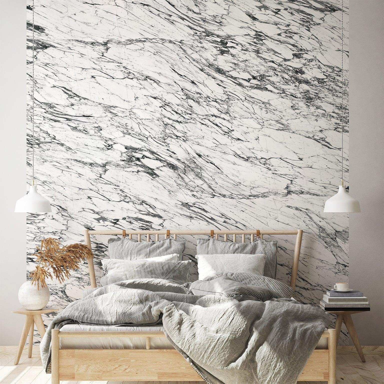 Papier Peint Trompe L Oeil Koziel papier peint panoramique marbre arabescato blanc intissé koziel l.260 x  h.270 cm