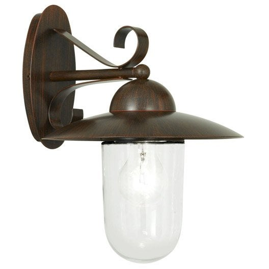 applique descendante ext rieure milton e27 rouille eglo leroy merlin. Black Bedroom Furniture Sets. Home Design Ideas