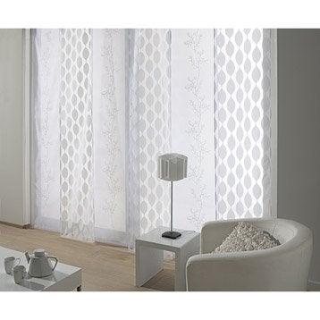 panneau japonais ondulation blanc 260 x 50 cm. Black Bedroom Furniture Sets. Home Design Ideas