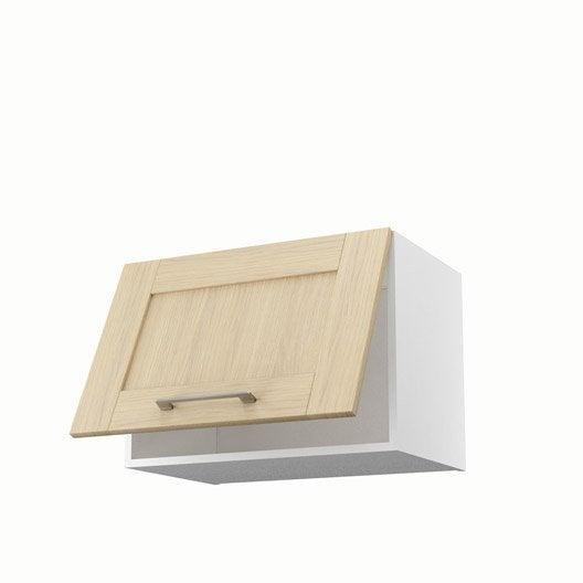 meuble de cuisine haut sur hotte ch ne clair 1 porte cyclone cm leroy merlin. Black Bedroom Furniture Sets. Home Design Ideas