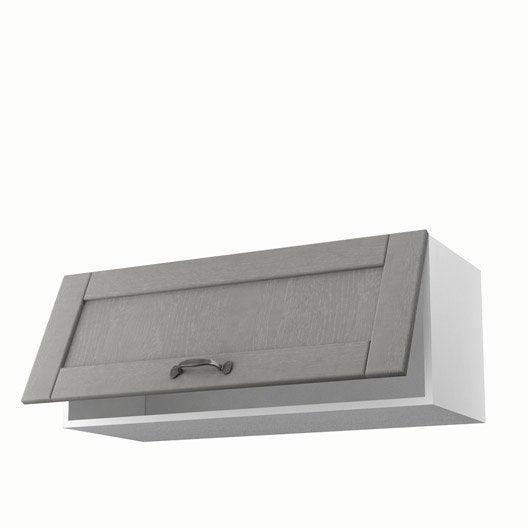 Meuble de cuisine haut gris 1 porte nuage x x p for Porte cuisine 60 x 90