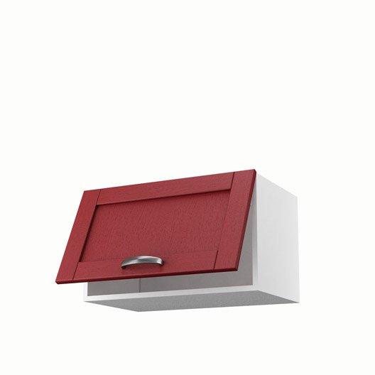 Meuble de cuisine rouge delinia rubis leroy merlin for Porte cuisine 30 x 60