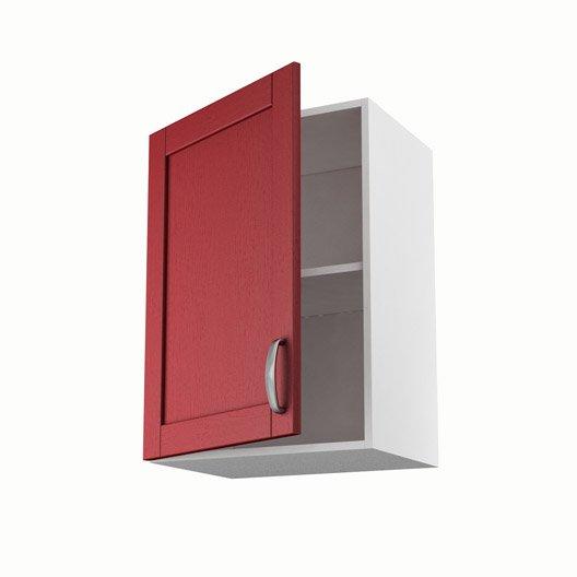 Meuble de cuisine haut rouge 1 porte rubis x x p for Meuble 70 cm de haut