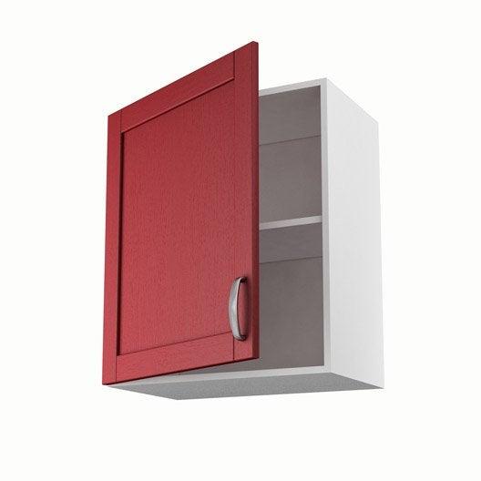 Meuble de cuisine haut rouge 1 porte rubis x x p for Meuble haut cuisine 60 x 60