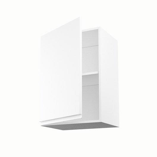 meuble de cuisine haut blanc 1 porte graphic x x cm leroy merlin. Black Bedroom Furniture Sets. Home Design Ideas