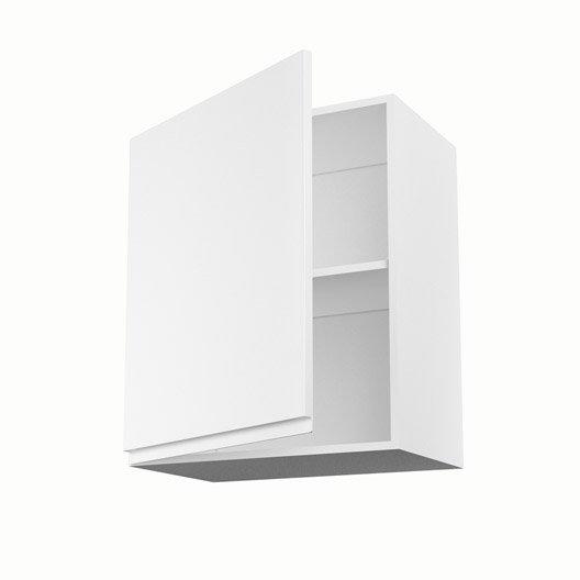 Meuble de cuisine haut blanc 1 porte graphic x x for Meuble haut cuisine 60 x 60