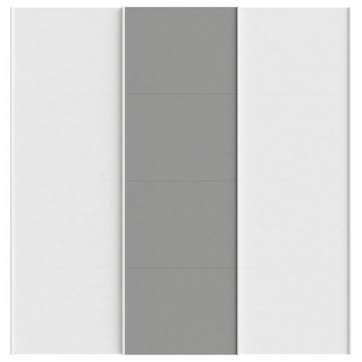 Lot de 3 portes coulissantes spaceo home 240 x 240 x 15 cm blanc leroy merlin - Porte coulissante 240 cm hauteur ...