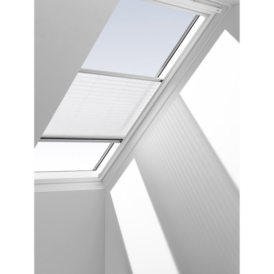 store fenêtre de toit plissé blanc velux fhl s06  leroy