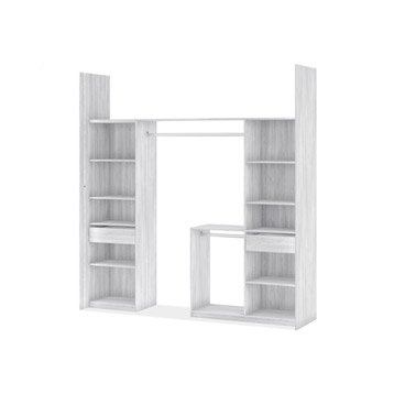 Kit dressing effet frêne blanc New york H.249 x l.178/239 x P.60 cm