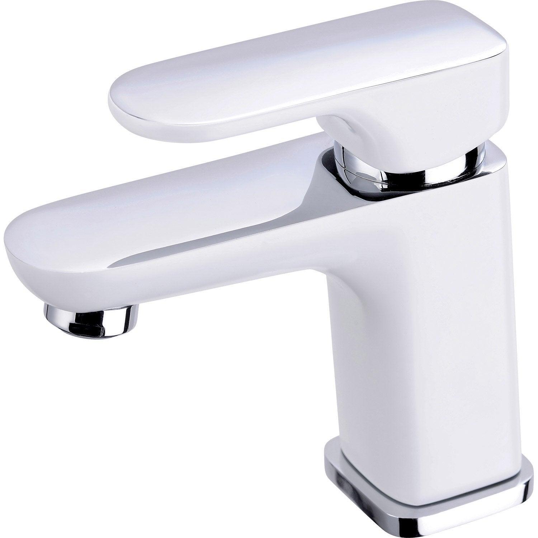 Mitigeur de lavabo blanc mat Elliot