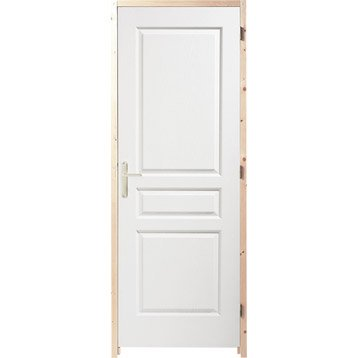 Porte int rieure bloc porte porte fin de chantier for Dimension porte interieur 83