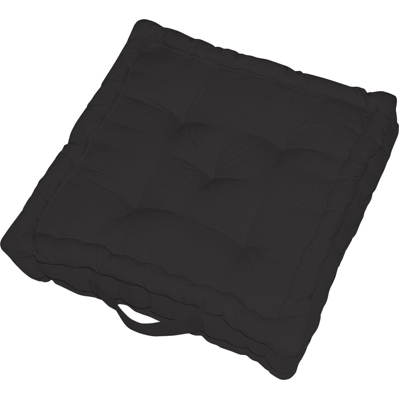 Coussin de sol Elema INSPIRE, black n°0 l.60 x H.60 cm
