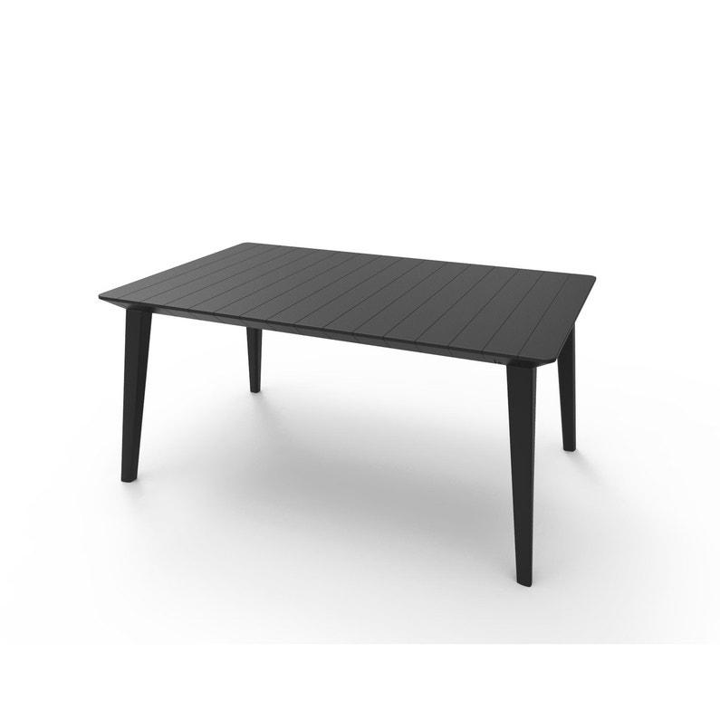 Table de jardin Akola rectangulaire anthracite 4/6 personnes