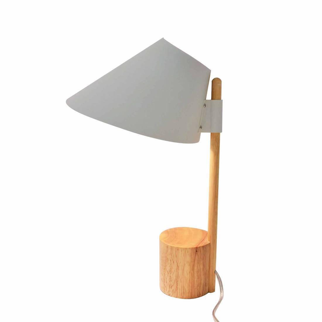 Lampe, design, bois gris et boir Capy