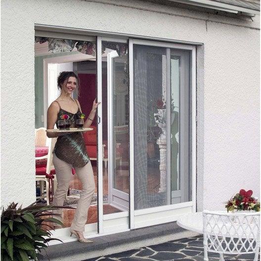 Moustiquaire pour baie coulissante pour baie coulissante - Leroy merlin porte vitree ...