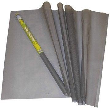rouleau de toile de moustiquaire en fibre de verre grise 235x150 cm. Black Bedroom Furniture Sets. Home Design Ideas