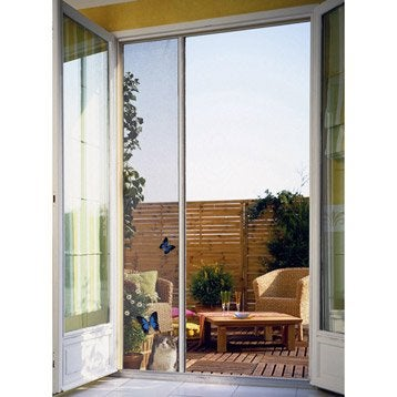 Moustiquaire pour porte-fenêtre à enroulement latéral MOUSTIKIT H.230 x l.140 cm