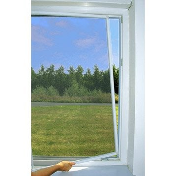 Moustiquaire pour fenêtre cadre fixe MOUSTIKIT H.100 x l.100 cm