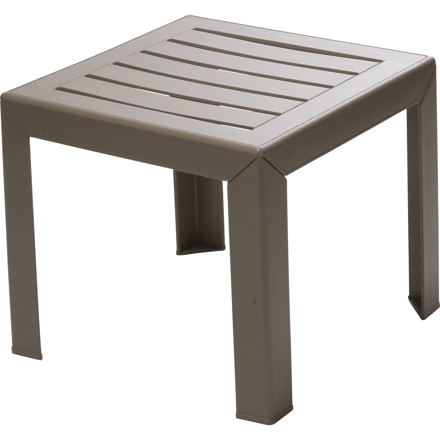 Table basse GROSFILLEX Miami carrée taupe 2 personnes | Leroy Merlin