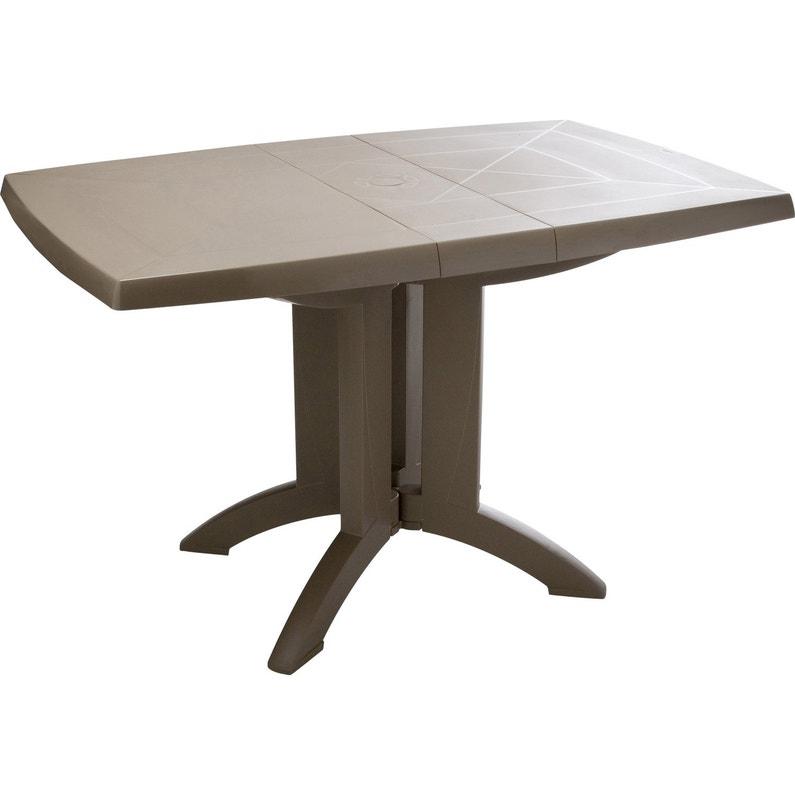 Table de jardin de repas GROSFILLEX Véga rectangulaire taupe 4 personnes