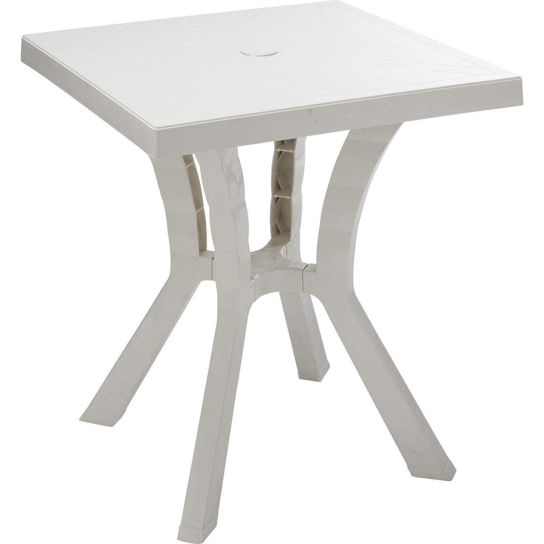 Table de jardin de repas Rigoletto carrée blanc, 2 personnes | Leroy ...