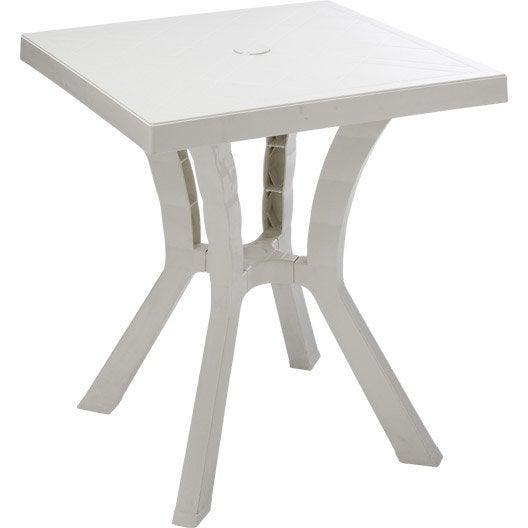 table de jardin rigoletto carr e blanc 2 personnes leroy merlin. Black Bedroom Furniture Sets. Home Design Ideas