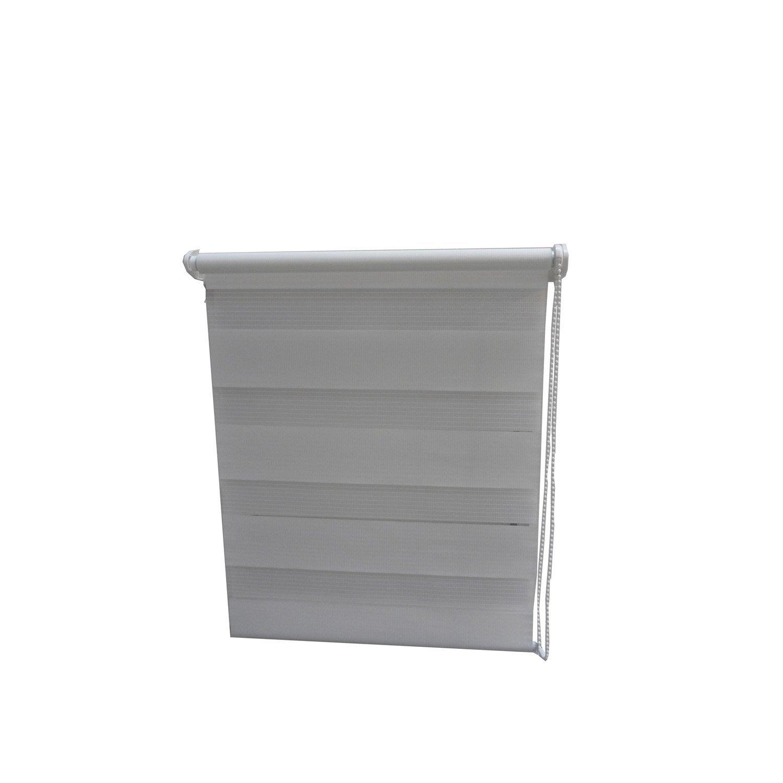 store enrouleur jour nuit blanc 57 60 x 90 cm leroy. Black Bedroom Furniture Sets. Home Design Ideas