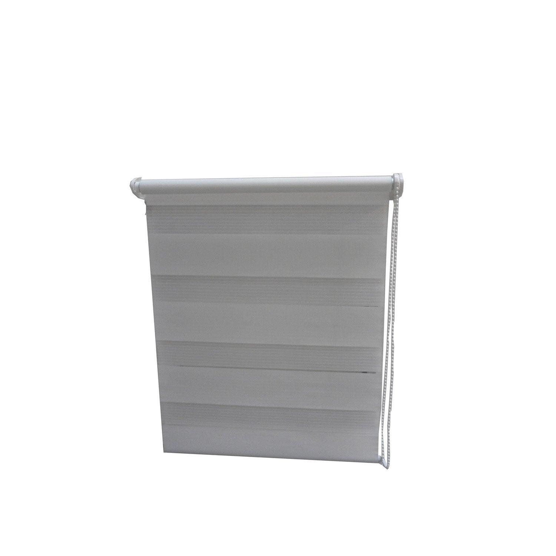 store enrouleur jour nuit blanc 42 45 x 90 cm leroy merlin. Black Bedroom Furniture Sets. Home Design Ideas