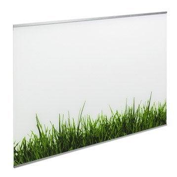 Fond de hotte verre Décor gazon H.70 cm x L.60 cm