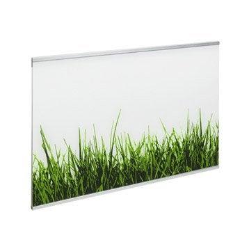 Crédence verre Décor gazon H.45 cm x L.60 cm