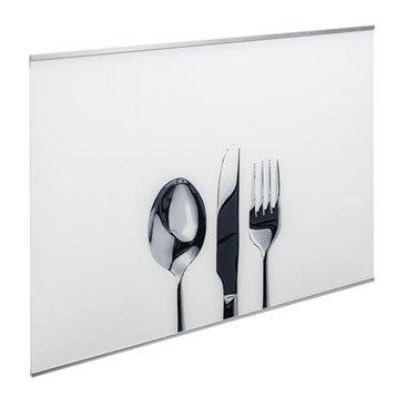 Fond de hotte verre Décor couverts H.70 cm x L.60 cm