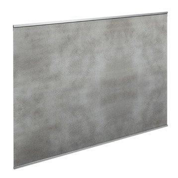 Fond de hotte verre Décor béton H.70 cm x L.60 cm