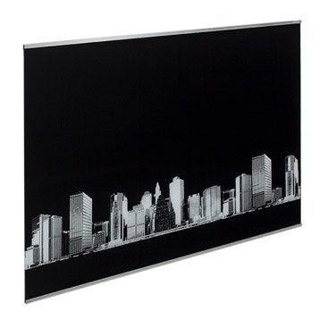 fond de hotte verre delinia d cor new york 60cmx70cmx5mm. Black Bedroom Furniture Sets. Home Design Ideas