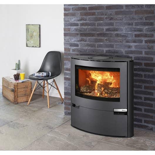 po le bois aduro 15 noir 6 5 kw leroy merlin. Black Bedroom Furniture Sets. Home Design Ideas