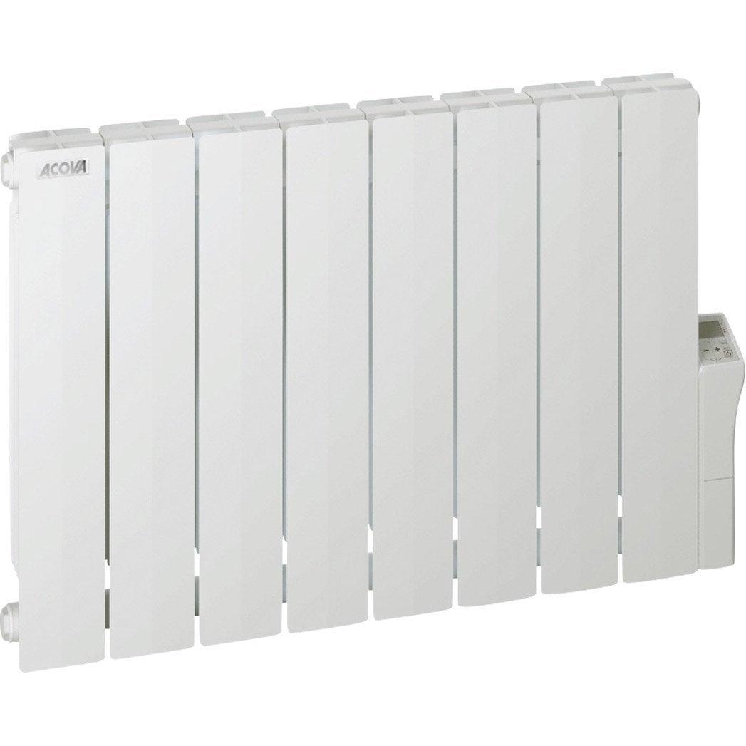 radiateur électrique à inertie fluide acova cotona lcd, 1500w ... - Acova Radiateur Salle De Bain
