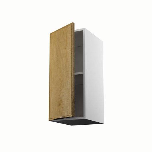 Meuble de cuisine haut ch ne 1 porte origine h70xl30xp35 cm for Porte placard 60 x 30